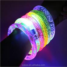 LED Flashing bracelet 10pcs/lot , light up bracelet,luminous glow led bracelet for party bar,Halloween,Chiristmas DHL shipping
