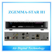 Zgemma star H1 with two tuner DVB-S2 DVB-C digital satellite and tv reciever with multimedia plug-in supported