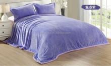 wholesale flannel sheets Charm purple thick king size blankets flannel fleece blankets