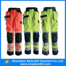 2014 date salut - vis hiver pantalons de travail, Sécurité pantalons de travail avec bande réfléchissante