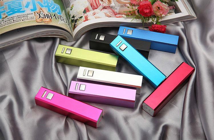 Aluminum lipstick power bank external battery charger