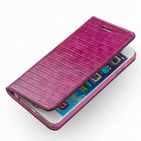 2015 Hot newly arrived top genuine Ostrich cover fashion sexy crocodile pattern leather case for iphone 6