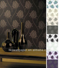 2012 LATEST design glitter decoration wall paper with high quality and low price