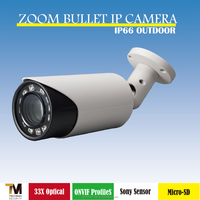 Taiwan manufacturer Support ONVIF ProfileS 33x optical zoom and 4x digital zoom bullet IP Camera
