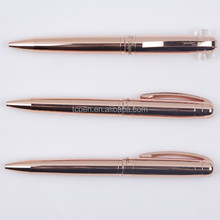 Rose Gold Ball Point Pen with Customized Logo