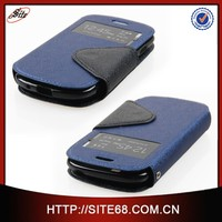 Wholesale flip leather cheap mobile phone case for Samsung S3 mini