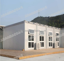 Chinese manufacturer low cost Luxury Prefabricated Glass container House