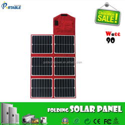 power kit 90W sunpower solar folding panel for boat, bike,golf cart, 12v batery etc