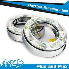 AKD Car Styling Toyota RAV4 LED DRL 2012 RAV4 LED DRL RAV4 Daytime Running Light Good Quality LED Fog lamp