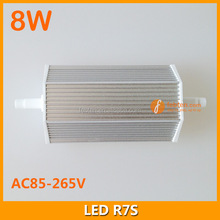85-265VAC 8watt r7s led light replace double ended bulb