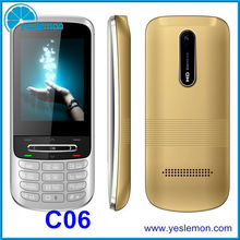 Factory Direct Mobile Phone 2.4 QVGA Cell Phones Low Cost FM Radio Torch Light Bluetooth Mobile Phones C06