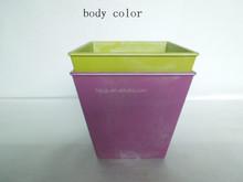 Square Plastic Material Hat Shape Flower Pots wholesale with body color