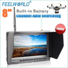 """FEELWORLD no blue screen 8"""" hd lcd monitor for drones with video camera with hdmi av inputs"""