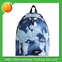 Sky printting simple waterproof foldable waterproof laptop backpack