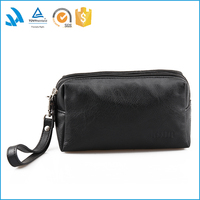 high end leather men's clutch bag for phone case
