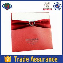 Top quality customised fancy handmade greeting wedding invitation card