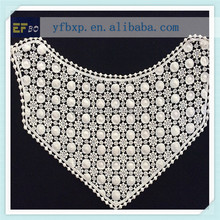 Women 100%cotton garment lace collar , dress water soluble lace collar ,summer t shirt white chemical lace collar C70106