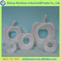 Wholesale Chinese porcelaine blanche en ceramique apple