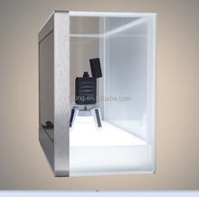LK-LCD-TB 22 inch clear display box lcd transparent showcase