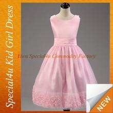 Girls Pink puffy prom fancy dress kids dress photo SFUBD-1045