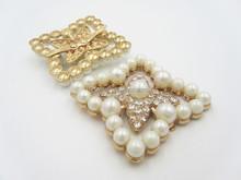 Wholesale Flower Rhinestone Pearl Shoe Jewelry Accessory