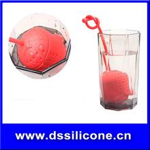 2015 new products FDA silicone rose shape Plastic tea infuser silicone Tea Accessories,tea cup fliter, unique tea infuser