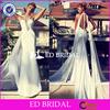 New Arrival Halter Memraid White Chiffon Long Alibaba Wedding Dress With Capes