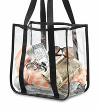durable Clear PVC Tote bag widely used for shopping
