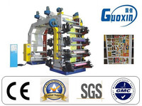 High speed stack type eight / 8 colours flexo printing machine