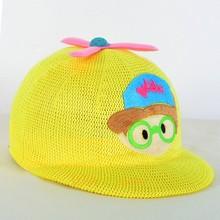 airplane pattern embroidered children kids baby straw hat snapback baseball cap