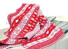 Cable Christmas design crochet knitting blanket
