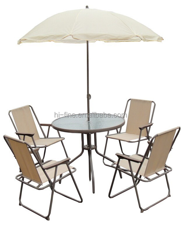 2015 Popular Garden Dining Table And Chair Furniture Set Patio Sling Furnitur