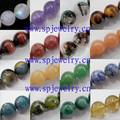 Solta pérola corda semi preciosas pedra, Round 4 - 16 mm