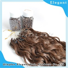 Alibaba express hair products mixed color small curly virgin Indian fish line hair extensions
