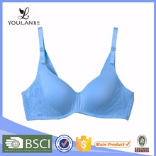China Supplier Fitness Sexy Women Light Blue Molded Bra Cup