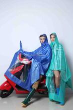 2015 PVC film type rainwear/raincoat/rain poncho for motorcycle