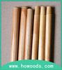 Varnished wooden mop handle / broom wooden handle