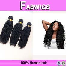 Fabwigs FH131human hair virgin brazilian kinky curly hair weave ,cheap brazilian curly hair 3 bundles