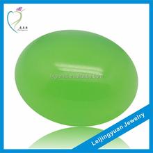 Dark Apple Green Oval Cabochon Jade