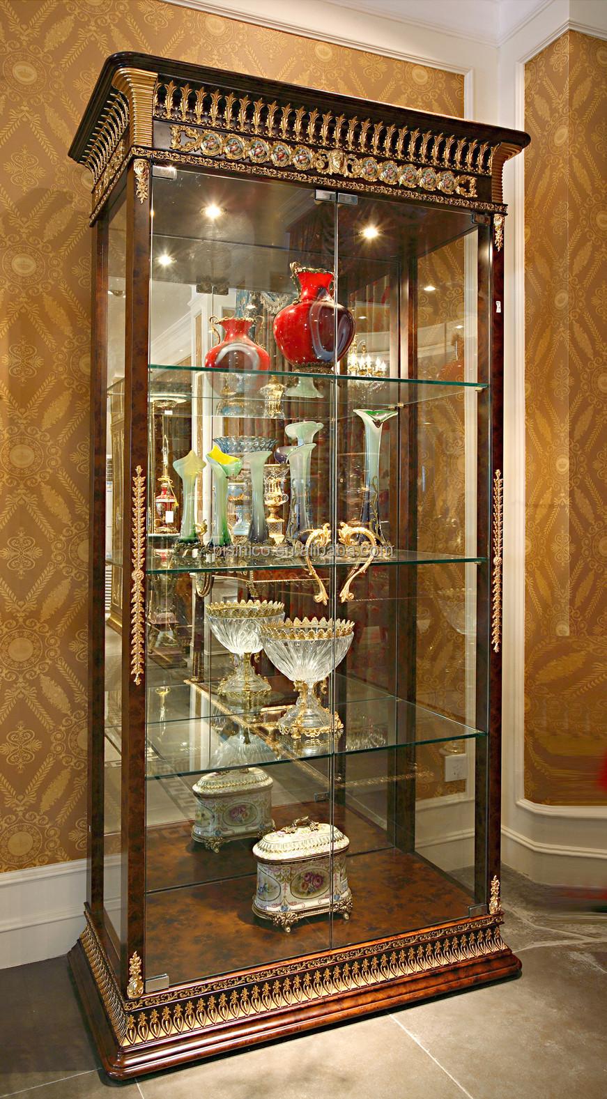 Luxury French Baroque Style Mahogany Single Door Display