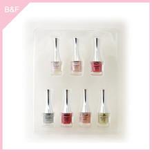 Private label makeup Nail Polish real nail polish sticker glitter design 8ml shiny gel nail polish