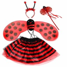 Wholesale Little Bee Wings Fairy Lovely Wings Princess Dance Skirts