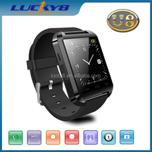 meticulous design U8 New Stylish Touch Screen Bluetooth Smart Watch for iOS 5.0 above and Android 2.3 smartphone and tablet PC