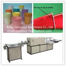 Automatic Cup Rim Rolling Machine, plastic cup rim curling machine