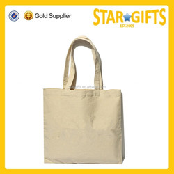 Custom Reusable Standard Size Plain Cotton Canvas Tote Bag With Personal Logo