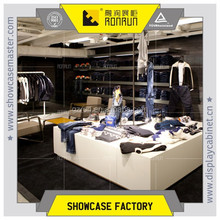 Used clothes retail shop furniture ,wooden display counter and shelf ,display stands for hanging clothes