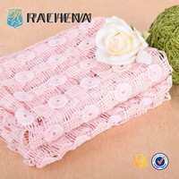 pink water-soluble embroidery fabric,custom embroidery fabric,eyelet embroidery fabric
