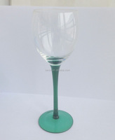 Red wine glass with thick stem, champagne wine glass