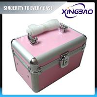 Print option cosmetic case with velvet inner,transparent salon cosmetic case,aluminum cosmetic case