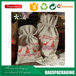 wholesale factory supplier recyclable cotton canvas drawstring bag